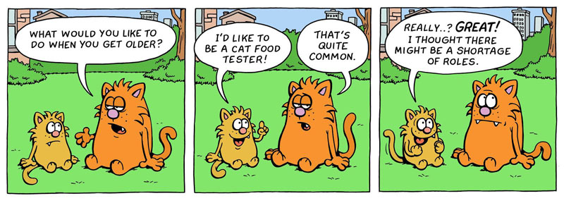 Learn to Speak Cat comic strip