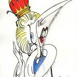 Thatcher as Queen ©Gerald Scarfe