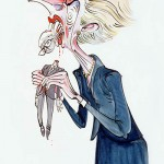 Thatcher eating Major ©Gerald Scarfe
