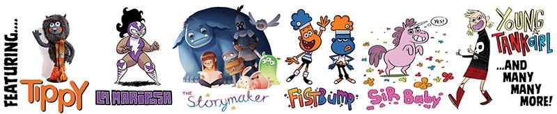 Moose Kids Comics characters