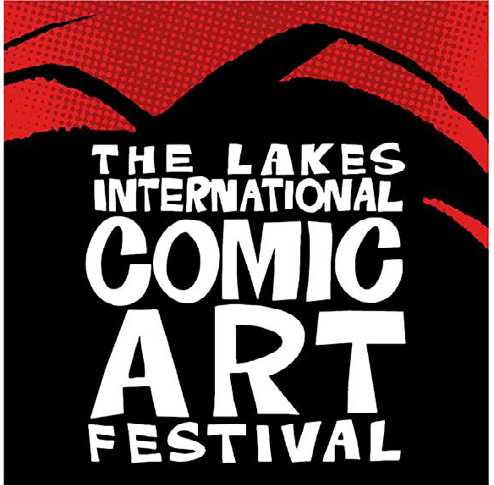 Lakes comic art festival logo