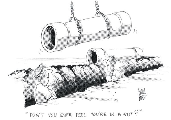 Noel Ford exhibition cartoon