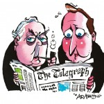 On the Right lines -Celebrating 50 years of cartoons in The Daily Telegraph
