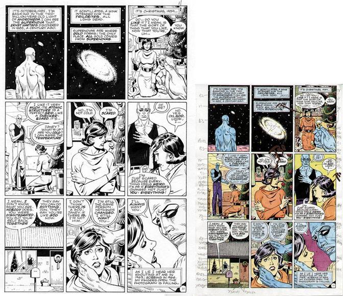 Watchmen (detail) , 1986: Alan Moore, Dave Gibbons, John Higgins © D C Comics