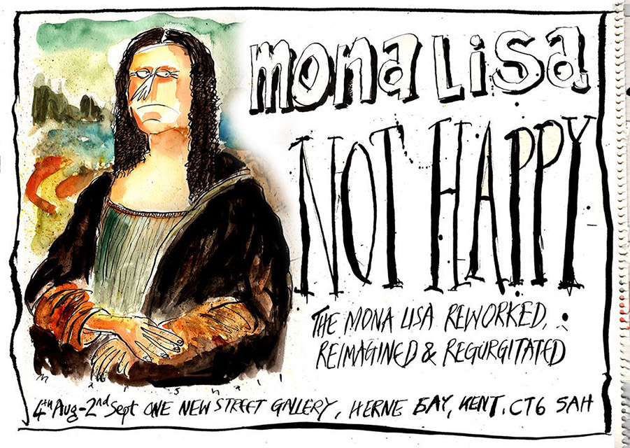 Herne Bay - Mona Lisa Not Happy exhibition