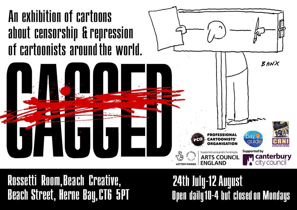 Gagged exhibition