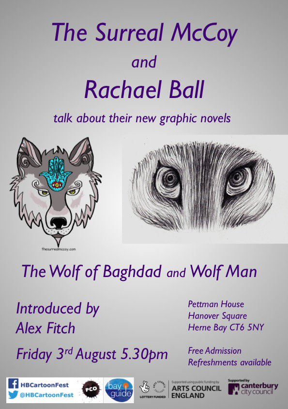 Graphic novelists The Surreal McCoy and Rachael Ball talk about their new work with Alex Fitch
