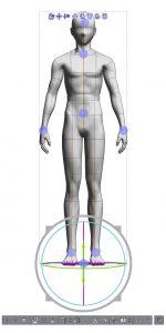 3D mannequin axes