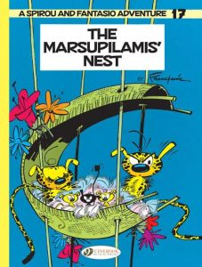 Cover if the Marsupilami and family in a nest