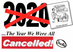 Cover to Stella's 2020... The Year We Were All Cancelled!